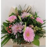 Boeket Rosanne, extra large gebonden - roze/wit