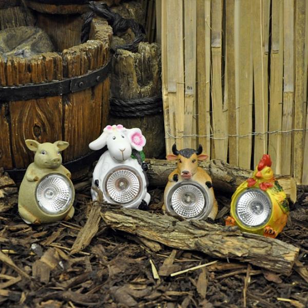 Boerderijdieren met solar led verlichting kopen - decoratieve ...