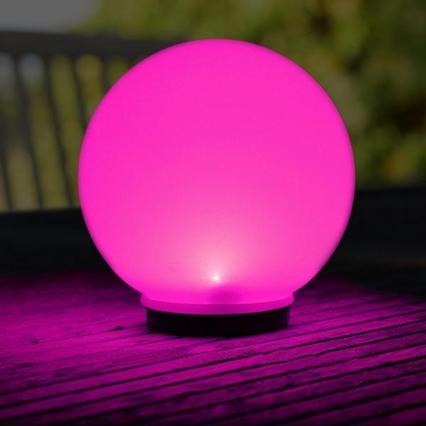 Bollamp op zonne-energie met led lamp, keuze gekleurd of wit licht ...