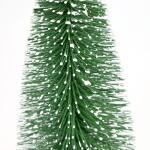Dennenboom besneeuwd groen - 20 cm (6 stuks)