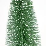 Dennenboom besneeuwd groen - 25 cm (5 stuks)