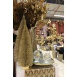 Dennenboom champagne glitter - 25 cm (5 stuks)