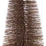 Dennenboom taupe glitter - 50 cm (3 stuks)