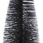 Dennenboom zwart glitter - 20 cm