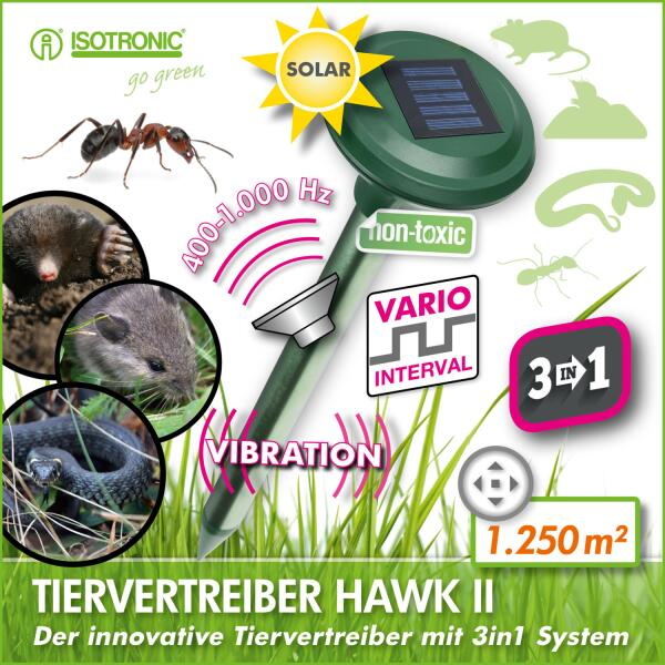 Dierenverjager HAWK II 3-in-1