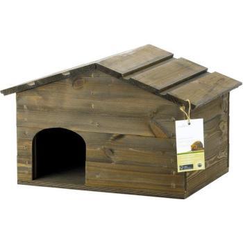 Egelwoonhuis egels egel nestkast kopen met twee compartimenten en afneembaar dak - Afneembaar huis ...