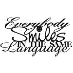 Everybody smiles - muurdecoratie