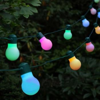Decoratieve feestverlichting op zonne-energie voor buiten met 20 ...