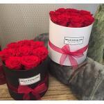 Flowerbox rond wit Ø 10 cm - Rood