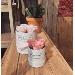 Flowerbox rond wit Ø 15 cm – Roze
