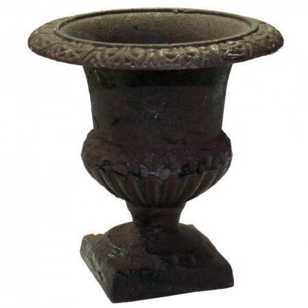 Antieke Gietijzeren Vazen.Franse Vaas Gietijzer 14 Cm