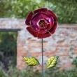 Fuchsia bloem - deco tuinprikker