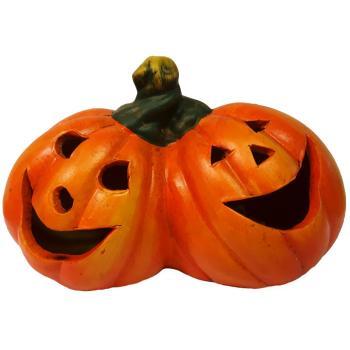 Halloween Verlichting.Halloween Duo Pompoenen Led