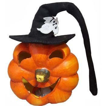 Pompoen Halloween.Halloween Pompoen Met Heksenhoed