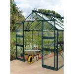 Hobbykas Blockley 128 groen - 256 x 380 x 253 cm - 9,7 m²