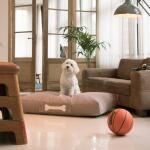 Hondenkussen Fatboy® doggielounge Large - stonewashed taupe 120 X 80 cm