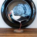 Houten vogel - ooievaar