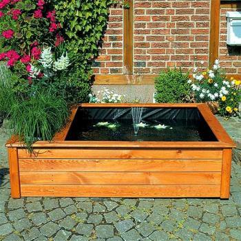 Verwonderend Verhoogde vijverbak met fontein en plantzone kopen - mooie houten GS-89