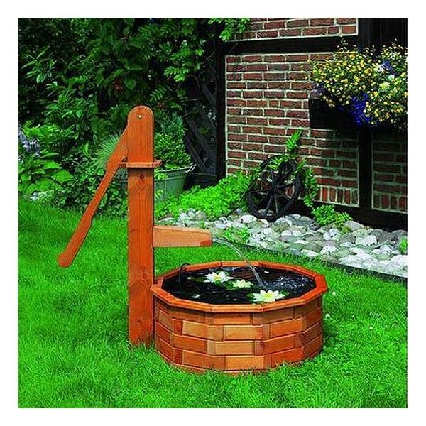 houten waterpomp met trog kopen een waterelement in de