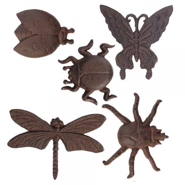wanddecoratie insecten zoals vlinder en kevers om tegen