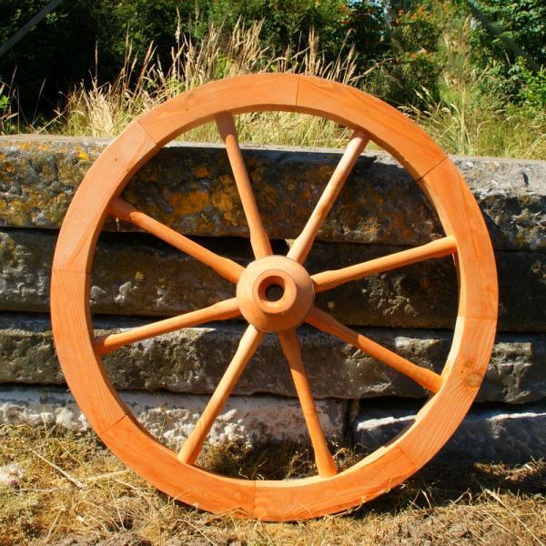 Houten karrenwiel groot 75 cm kopen decoratief karrenwiel voor in de tuin - Massief decoratief ...