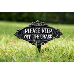 Keep off the grass - tuinprikker ijzer