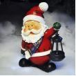 Kerstman met lantaarn solar