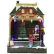Kerstshop met rijdend treintje