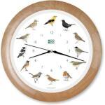 KooKoo klok - zangvogels met houten lijst