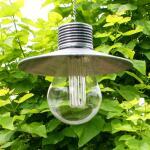 Lamp onder kap op zonne-energie