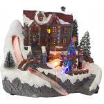 Led kerstdorp kindjes 22 x 20 x 18,5 cm