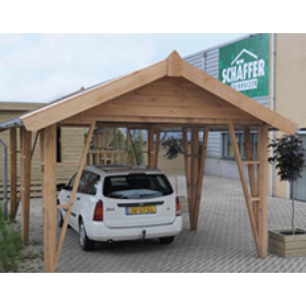 Actie houten carport met zadeldak | Prielen en carports | Tuinhuizen ...