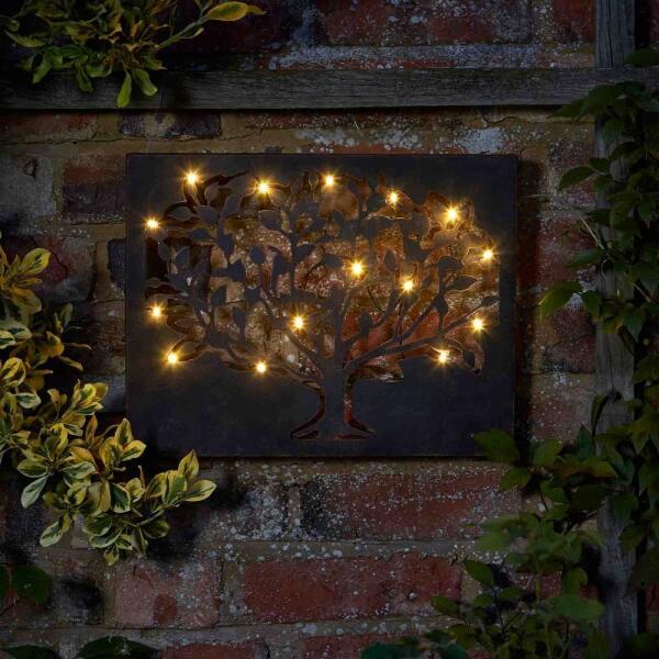 Aanbieding muurdecoratie boomsilhouette met ledverlichting ...