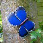 Vlinder blauw muurdecoratie