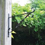 Muurhaak zwart voor hangmanden 29 cm