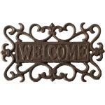 Muurplaat Welcome rustiek