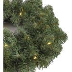 Norton kerstkrans groen met led verlichting - Ø 45 cm
