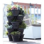 Plantentoren groot antraciet - 5 etages