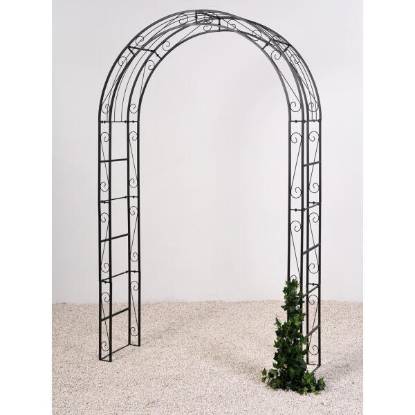 rozenboog line zwart kopen metalen rozenboog aanbieding rozenbogen en pergola 39 s. Black Bedroom Furniture Sets. Home Design Ideas