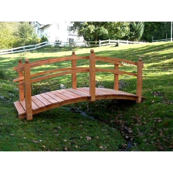Grote houten sierbrug kopen sierbrug hout voor in de for Hout voor vijver