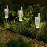 Tuinverlichting op zonne-energie met prikker