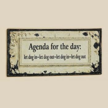 agenda spreuken Hangbord met spreuk Agenda for the Day kopen   rustiek hangbord  agenda spreuken