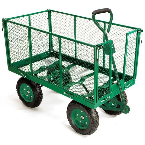 Stevige tuinkar 300 kg kruiwagens en karren opbergen - Remorque leroy merlin ...