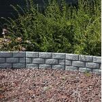 Tuinboord baksteenmotief - ca. 170 cm