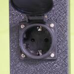 Tuinpaal met 4 geaarde stopcontacten