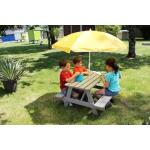 Picknick tafel KIDS taupe - gedroogd hout