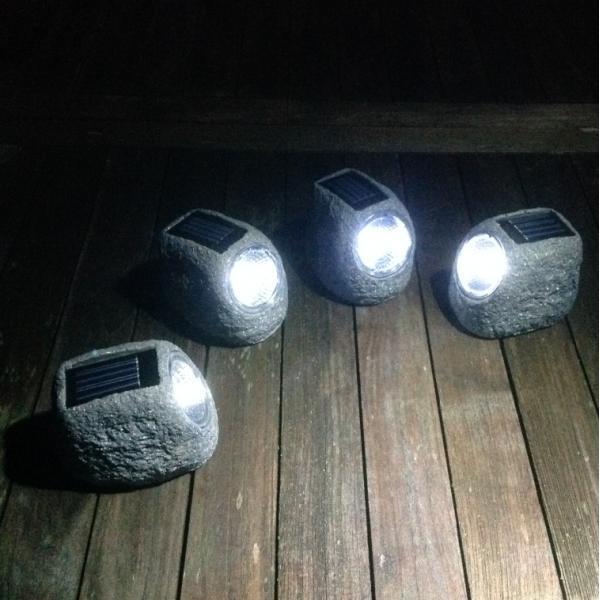 Tuinverlichting op zonne-energie kopen - set van 4 decoratieve ...