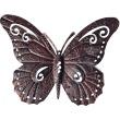 Vlinder in metaal muurdeco