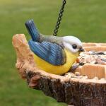 Voederschaal met vogel - hangend