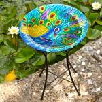 Vogelbad pauw - Ø 35 cm glas